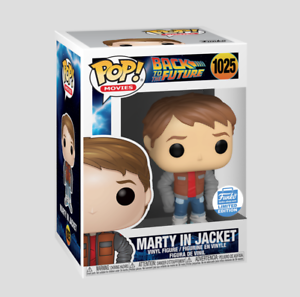 MARTY IN JACKET Funko Pop Movies: BACK TO THE FUTURE FUNKO SHOP EXCLUSIVE