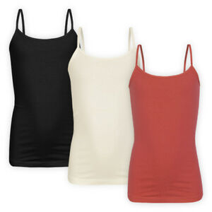Girls-Cotton-Cami-Straps-Top-Casual-Sleeveless-Strappy-Children-T-shirt-Vest