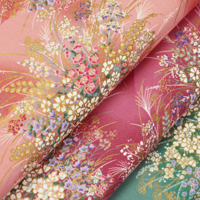 Japanese Cotton Fabric per FQ Retro Oriental Floral Dress Quilting Patchwork VJ9