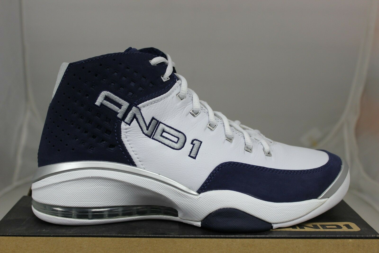 And1 Basketball Jumpstart Mid D809MWD White Navy Silver Brand New
