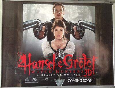 Cinema Poster Hansel Gretel Witch Hunters 2013 Main Quad Jeremy Renner Ebay