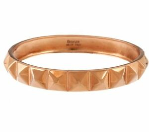 BRONZO-ITALIA-ROSE-BRONZE-LARGE-PYRAMID-DESIGN-ROUND-BANGLE-BRACELET-QVC-87