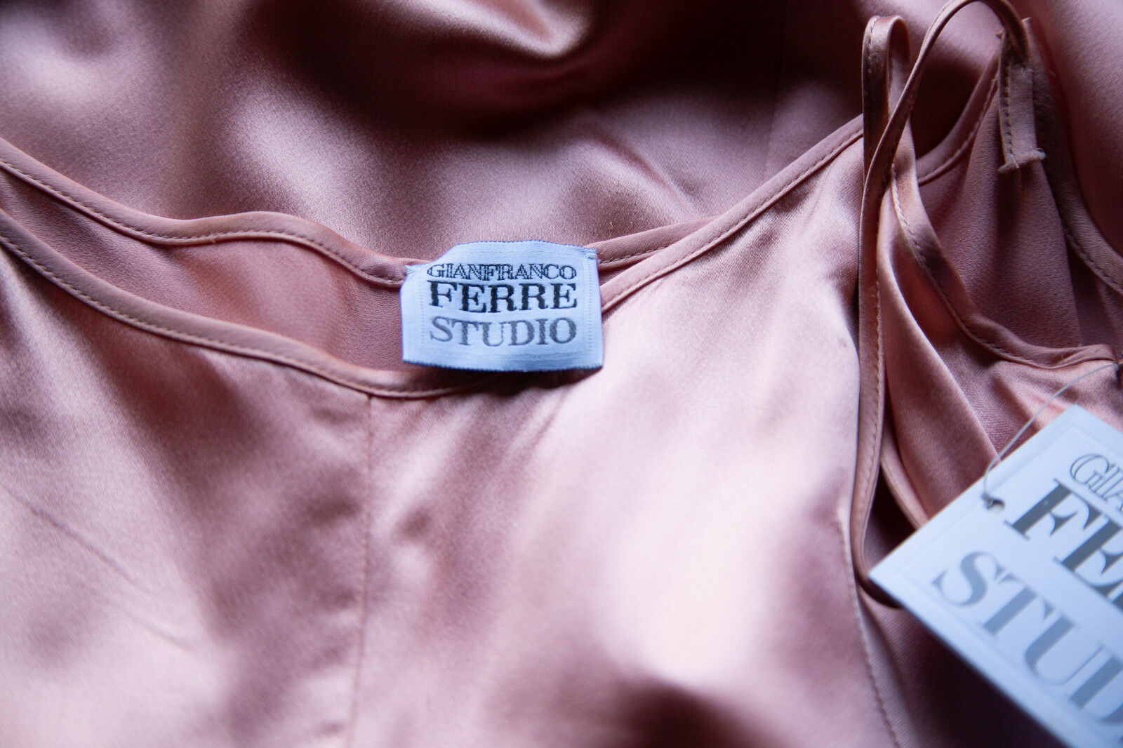 GIANFRANCO FERRE Studio Studio Studio vestito lungo rosa tg 42 long rosa dress c33afc