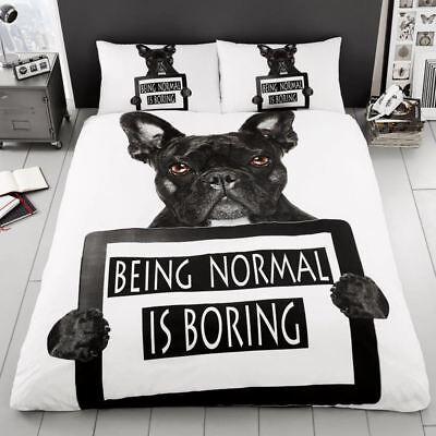 bulldog francés Funda de almohada y Funda De Edredón Individual Juego