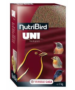 6 Pièces Nutribird Uni Complet,6 X 1 Kg, Nourriture Pour Obst- & Insektenfress.