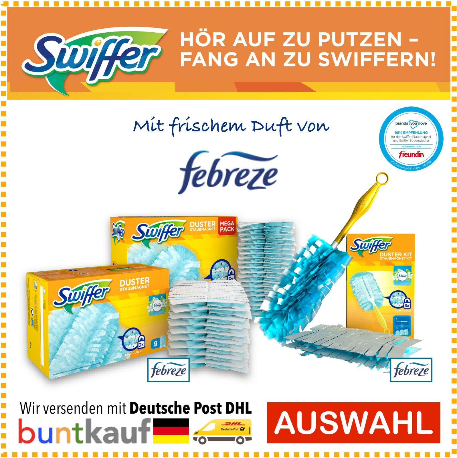 9er Nachfüllpackung Swiffer Staubmagnet Tücher Staubtuch Staubtücher