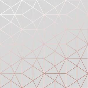Metro-Prisme-Geometrique-Triangle-Papier-Peint-Gris-Dore-Rose-WOW009-Metalique