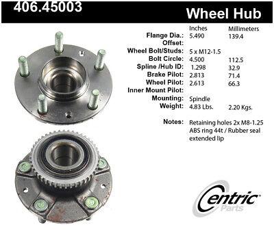 Centric Wheel Hub Assembly 407.44015