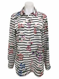 size SMALL TOMMY HILFIGER Women/'s Beautiful Summer Striped Floral Shirt