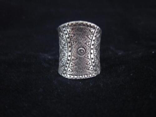 Fine Silver Rings THAI HANDMADE KAREN HILL TRIBE Kuchi Engrave R119