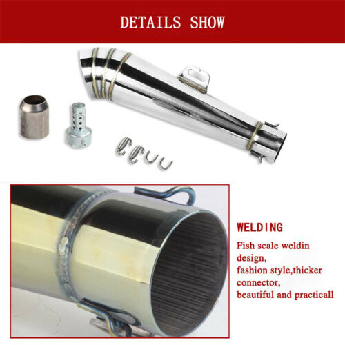 38-51mm Exhaust Muffler Pipe/&DB Killer for 125-1000CC Motorcycle/&Scooter Racer
