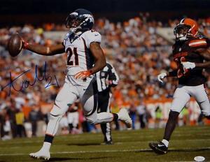 Aqib-Talib-Autographed-Broncos-16x20-Running-Against-Browns-Photo-JSA-W-Auth