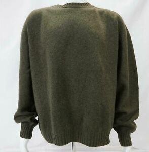 Orvis-100-Wool-Long-Sleeve-Pullover-Sweater-Men-039-s-Green-XL