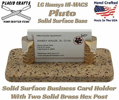 #BCH-119 Handmade Solid Surface Business Card Holder Corian Sahara