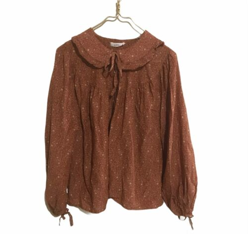 Doen Women's Shirt Medium Hippie Prairie Blouse Ru