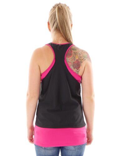 CMP Laufshirt Freizeitshirt Tanktop pink Mesh Stretch atmungsaktiv