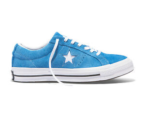 3dd75fca28449d Converse Unisex ONE STAR VINTAGE SUEDE LOW TOP Shoes Blue Hero ...