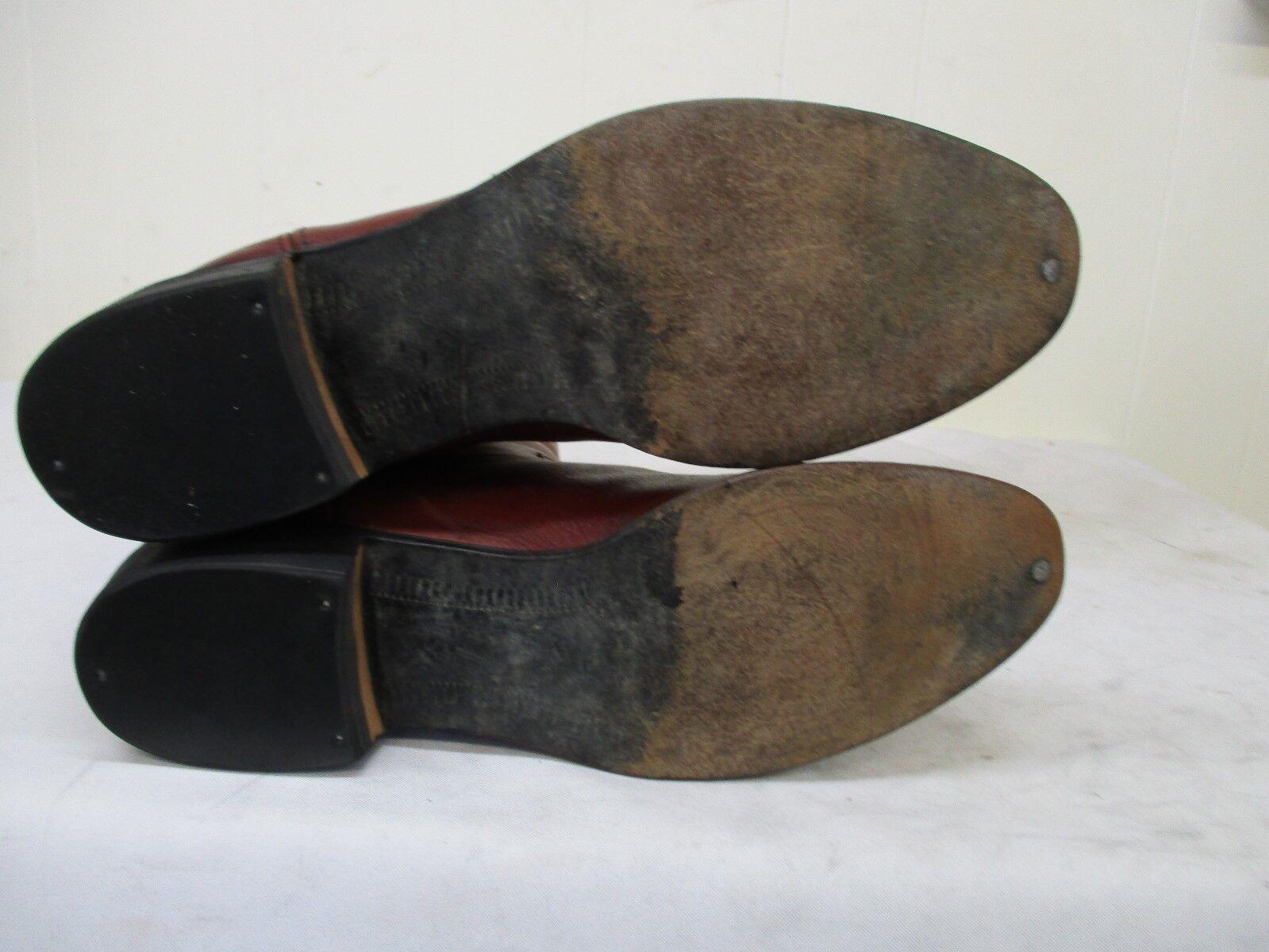 JS Justin London Tan Tan Tan Leather Cowboy Boots Mens Size 9.5 D Style 50005 3a0f59