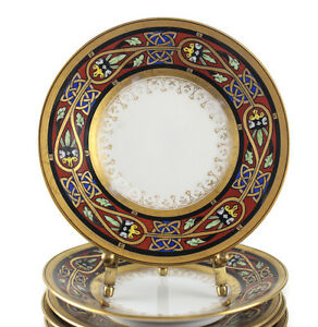 Image is loading 9pc-Ambrosius-Lamm-Dresden-Porcelain-Bread-Plates-Art-  sc 1 st  eBay & 9pc Ambrosius Lamm Dresden Porcelain Bread Plates Art Deco design ...