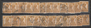 British-India-1940-Wholesale-Offer-King-George-VI-1Anna-3Pies-50-Used-Stamps