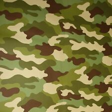Item 1 CAMOUFLAGE WALLPAPER 10M KHAKI GREEN GREY BLACK ARMY SOLDIER BEDROOM