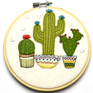 Corinne Lapierre Felt Cactus Applique Hoop kit