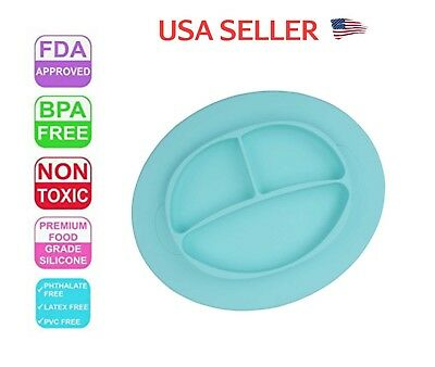 Baby Plate Tray Mat Silicone BPA Free FDA Approved Non Toxic
