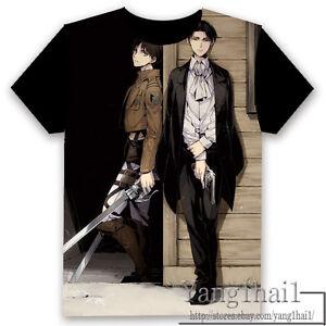 進撃の巨人 Attack on Titan Anime Otaku Black Unisex T-shirt Tops S-XXXL Gift #20