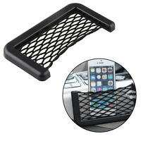 Portable Car Seat Side Storage Resilient Net String Pouch Phone Holder Black