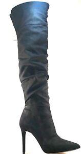 8b980add104 Jessica Simpson Luxella-2 Black Suede Over The Knee Pointy Stilleto ...