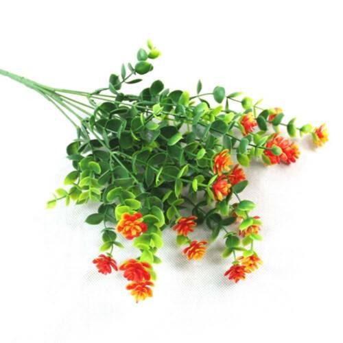 Artificial Flower Eucalyptus Fake Leaf Silk Bouquet Home Wedding Party Decor V