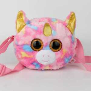Details about Ty Beanie Boo Shoulder Bags Fantasia the Unicorn Plush Bag  Purse Soft Toy f6510f22dd8