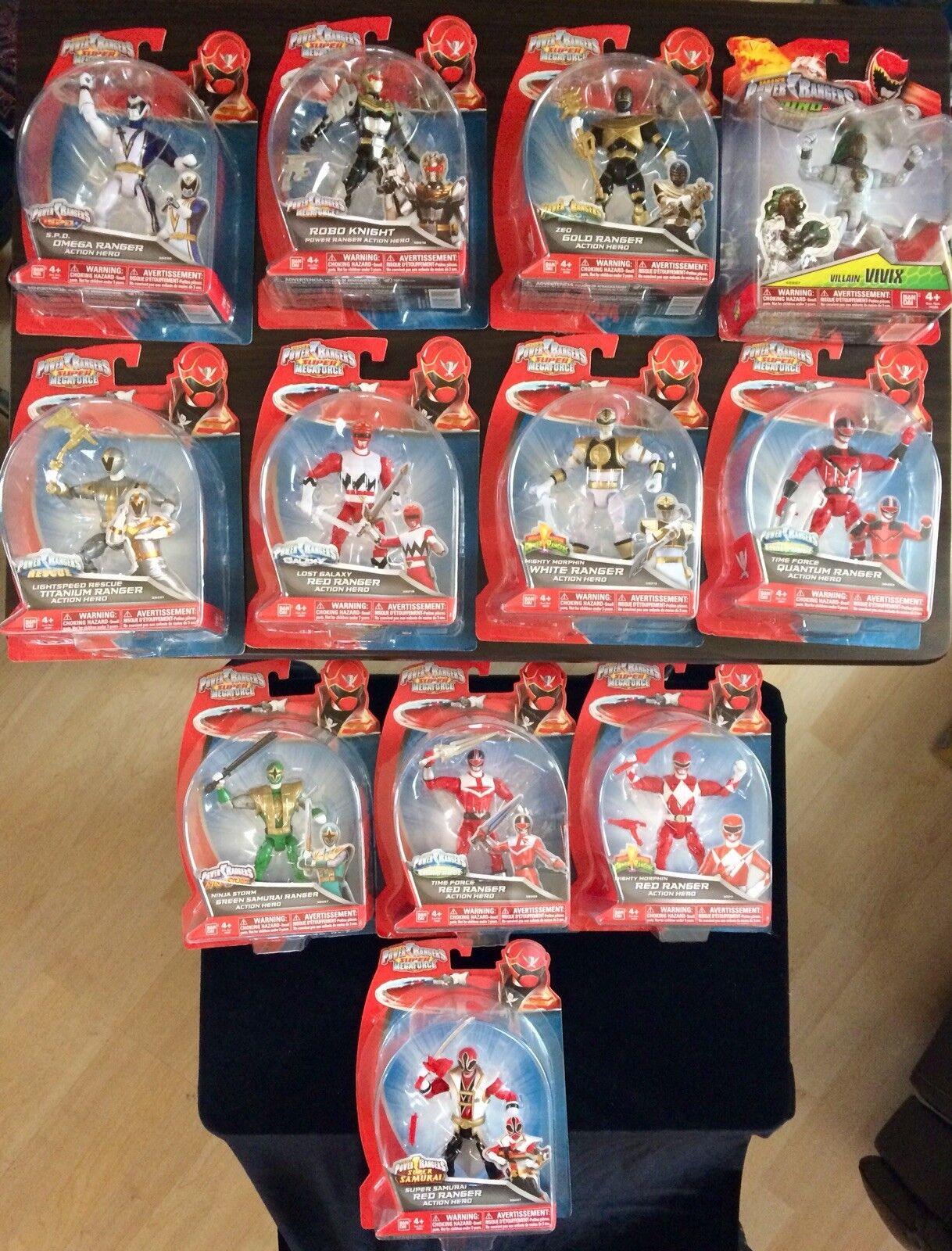 Power Rangers Super Megaforce Mighty Morphin Ranger héroe de acción Lote