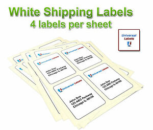 photo regarding Printable Label Sheets titled Data concerning 4 x 5 Blank Laser Labels - 15 sheets / 60 labels - Printable 4 Labels for each sheet