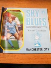 05/01/1985 Coventry City v Manchester City [FA Cup] (Creased Edge). No obvious f