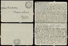 FRANCE 1914 MILITARY LETTERCARD VERY FINE to SWITZERLAND