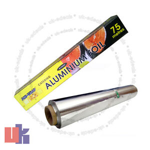 KITCHEN TIN FOIL ALUMINIUM ROLL CATERING WRAPPING CHICKEN STRONG 450mm X 75m