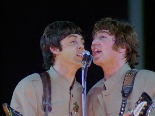 "The Beatles Paul McCartney John Lennon at Shea Stadium 14 x 11/"" Photo Print"