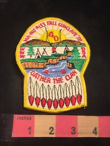 Vtg-1978-FALL-CONCLAVE-MA-NU-LODGE-133-ORDER-OF-ARROW-BSA-Boy-Scouts-Patch-89V1