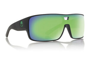 Dragon-HEX-Matte-Black-w-Green-Ion-LumaLens-Sunglasses-Free-Express-Post