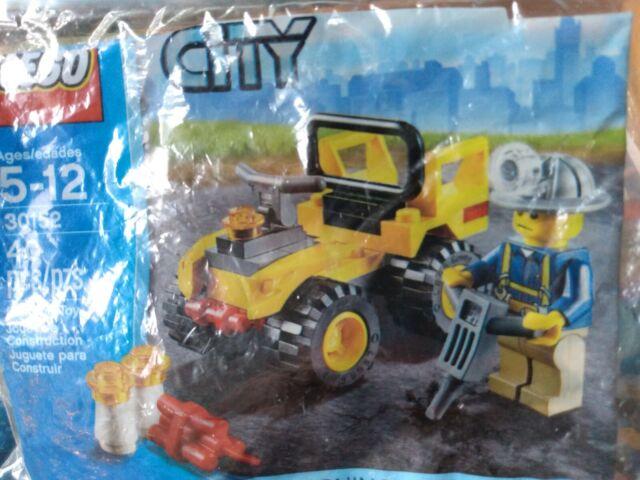 lego 30152 mining quad city bag set sealed