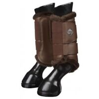 Lemieux Fleece Brushing Boots Brown/brown Horse Riding Schooling Turnout Boot