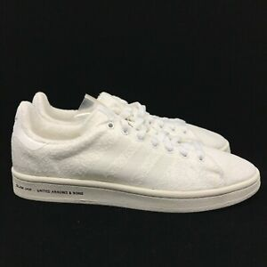 online retailer bd687 5f7e9 Image is loading Adidas-Campus-White-Cream-Slam-Jam-United-Arrows-