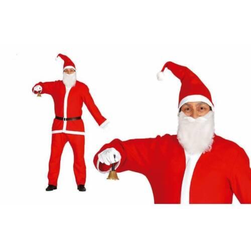 Mens Santa Claus Costume Adults Father Christmas Fancy Dress Suit Xmas Outfit  sc 1 st  eBay & Mens Santa Claus Costume Adults Father Christmas Fancy Dress Suit ...