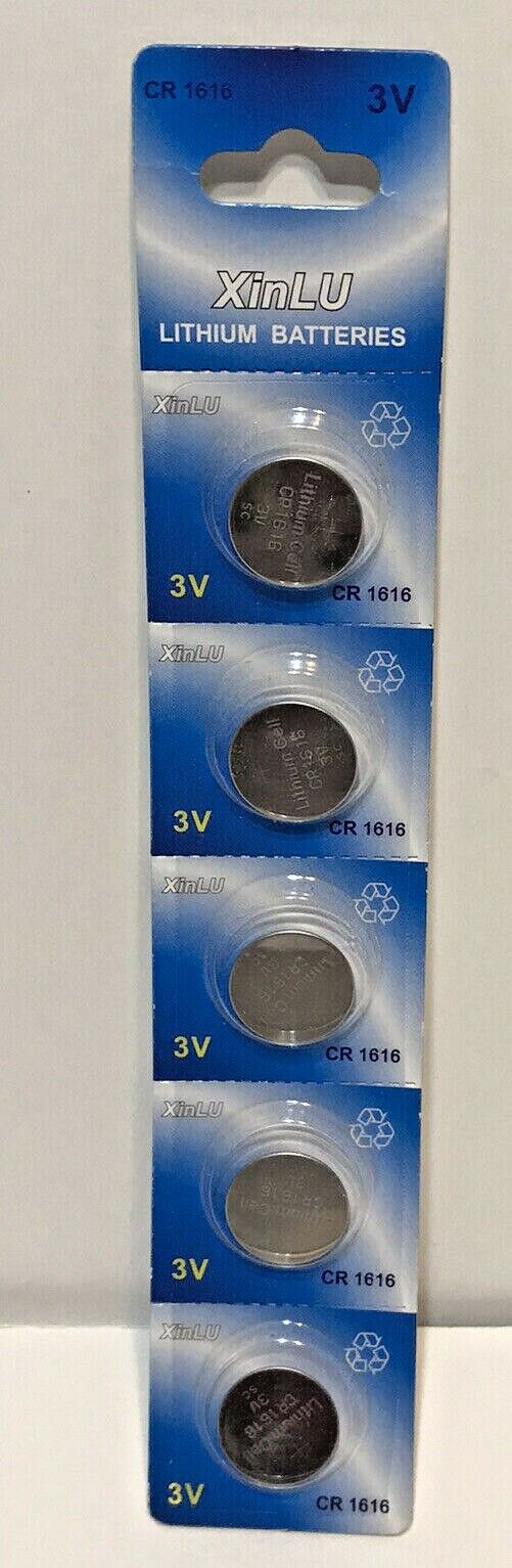 XinLU Lithium Batteries CR1616 3v Pack of 5 New in Package