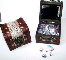 COLORED JEWELS FILLED PIRATES TREASURE CHEST kids novelty pirate chests jewel