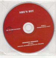 (ET519) She's Hit, Shimmer Shimmer - 2011 DJ CD
