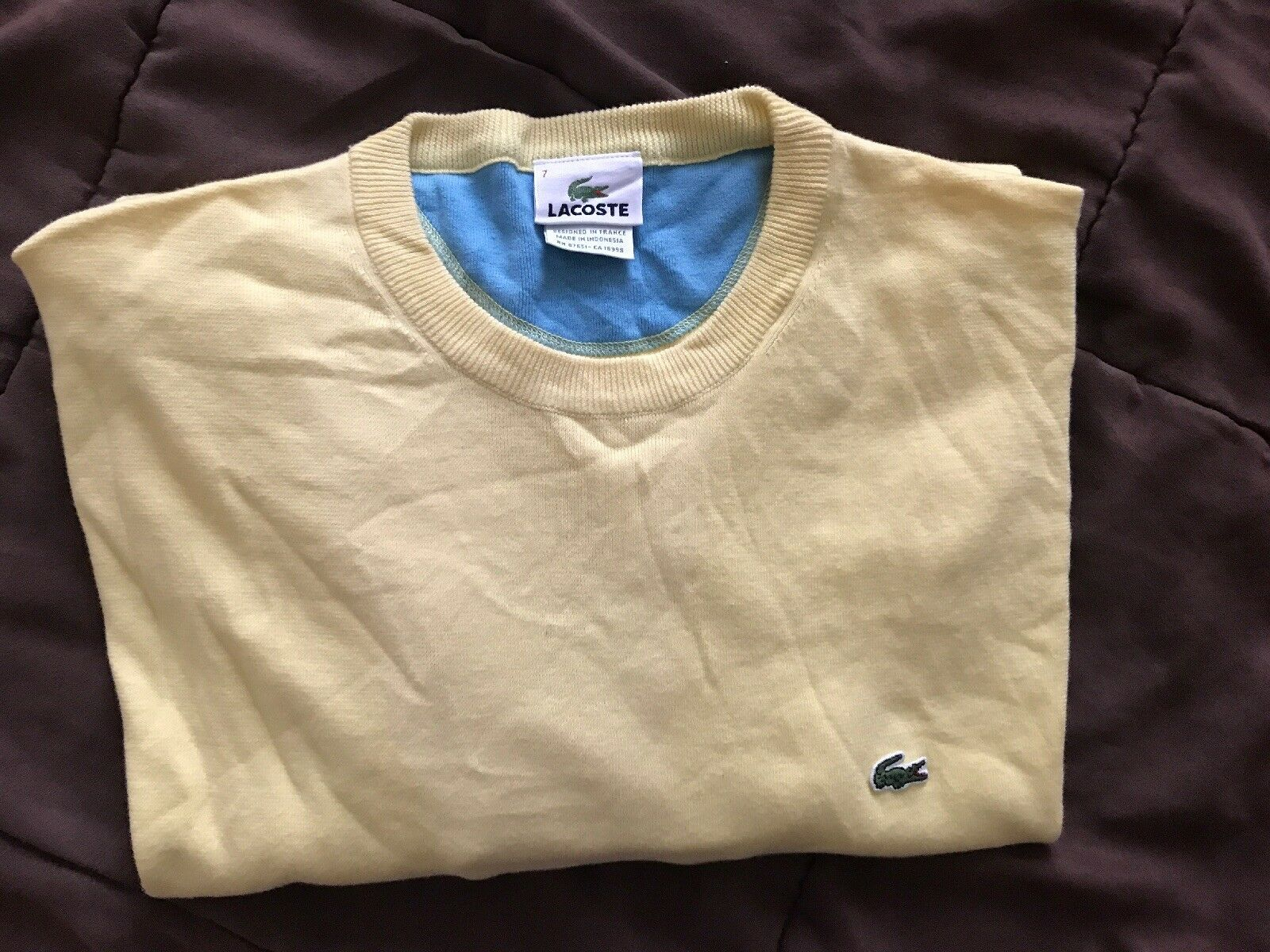 Lacoste Sweater Shirt Men Größe 7 Brand New Without Tags Excellent Condition