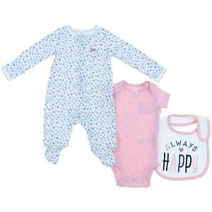 c137f2d90 Carters Little Girls 3 Piece Pajama Clothing Set (Always Happy ...
