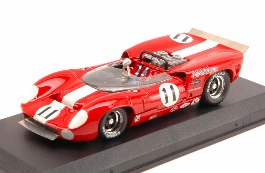 Lola t70 SPYDER  11 5th CAN-AM Bridge Hampton 1967 L. motschenbacher 1:43 Model